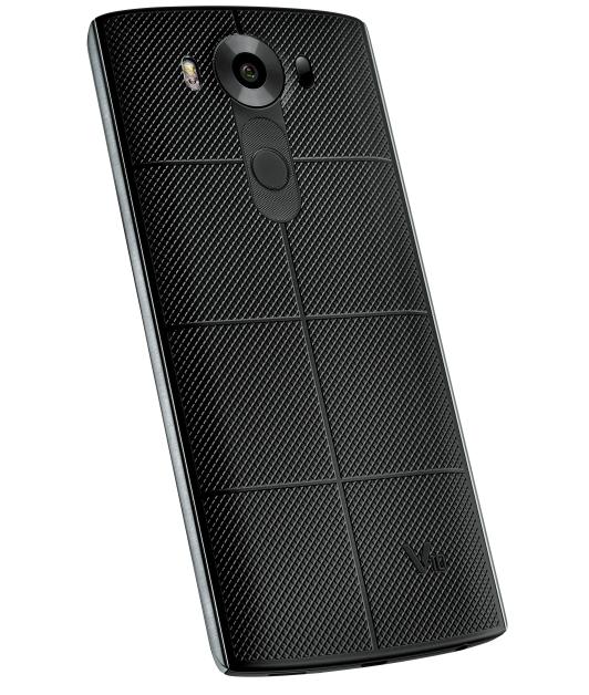 LG V10 smartphone back design