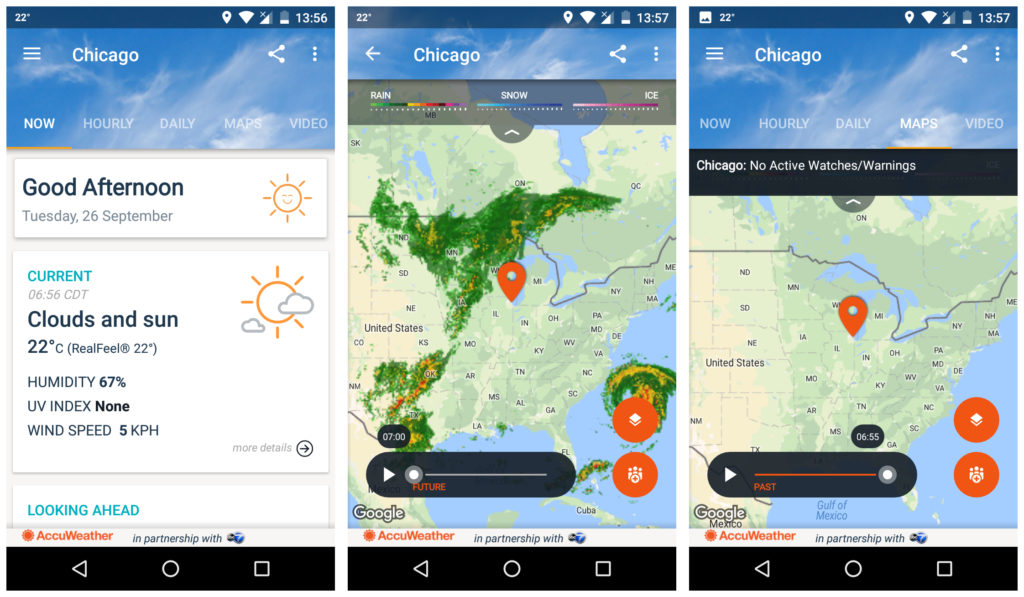 Accuweather app
