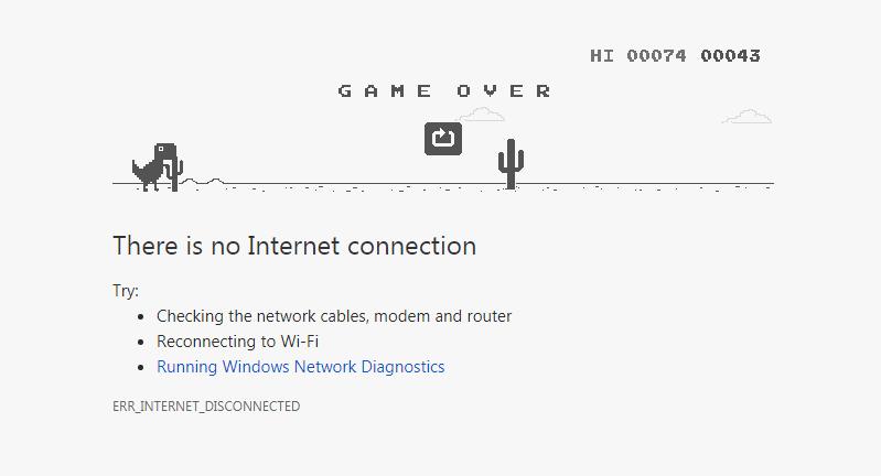 Google Dinosaur Game (T-Rex)