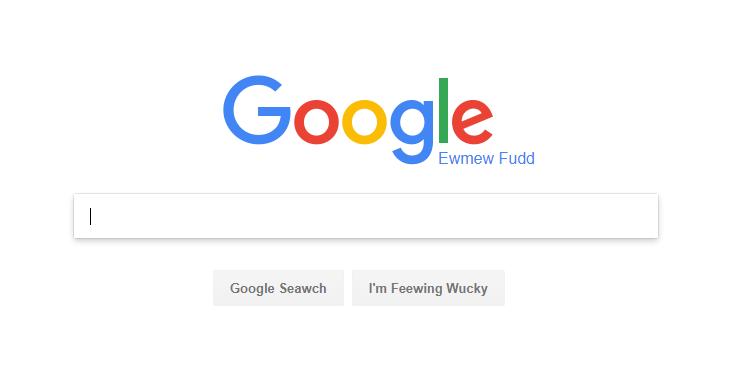 Google Elmer Fudd