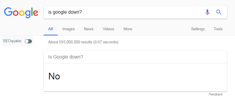 Is Google down?