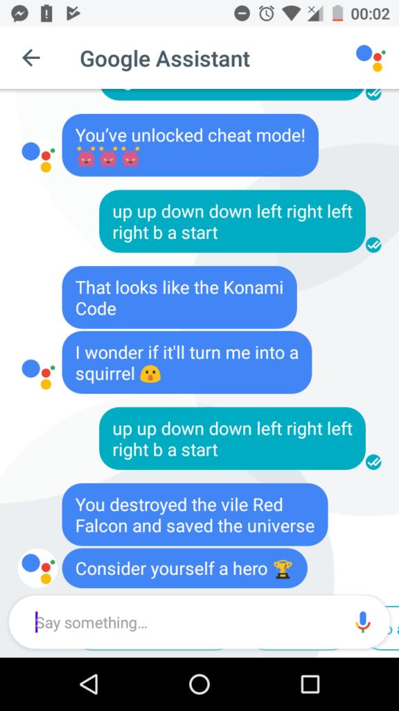 Konami Code Google Assistant