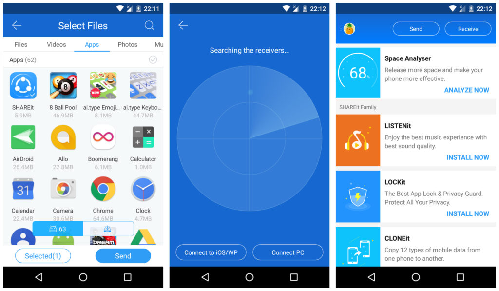 SHAREit File Transfer and File Sharing app