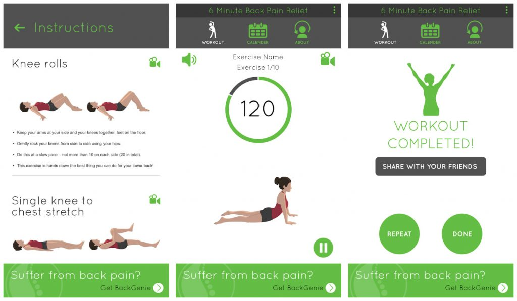 6 Minute Back Pain Relief app