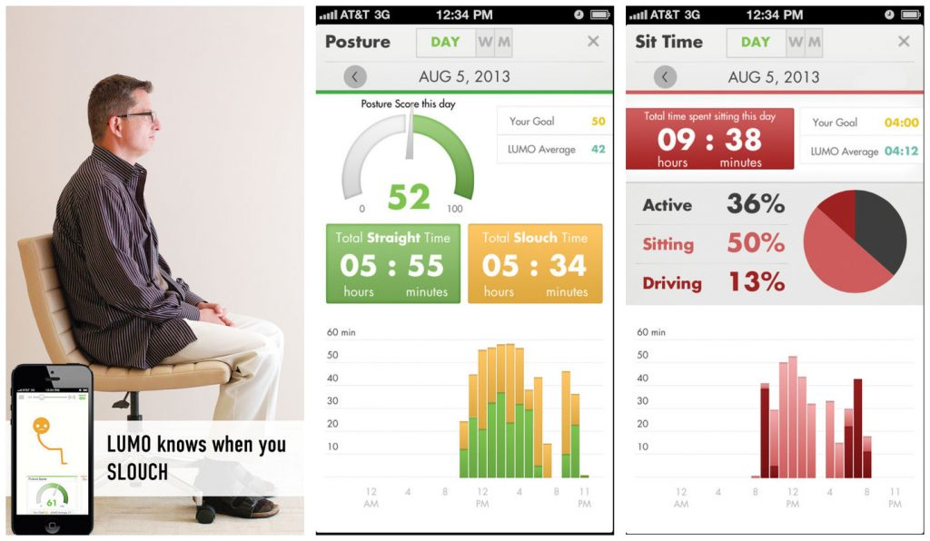 Lumo Back app for posture
