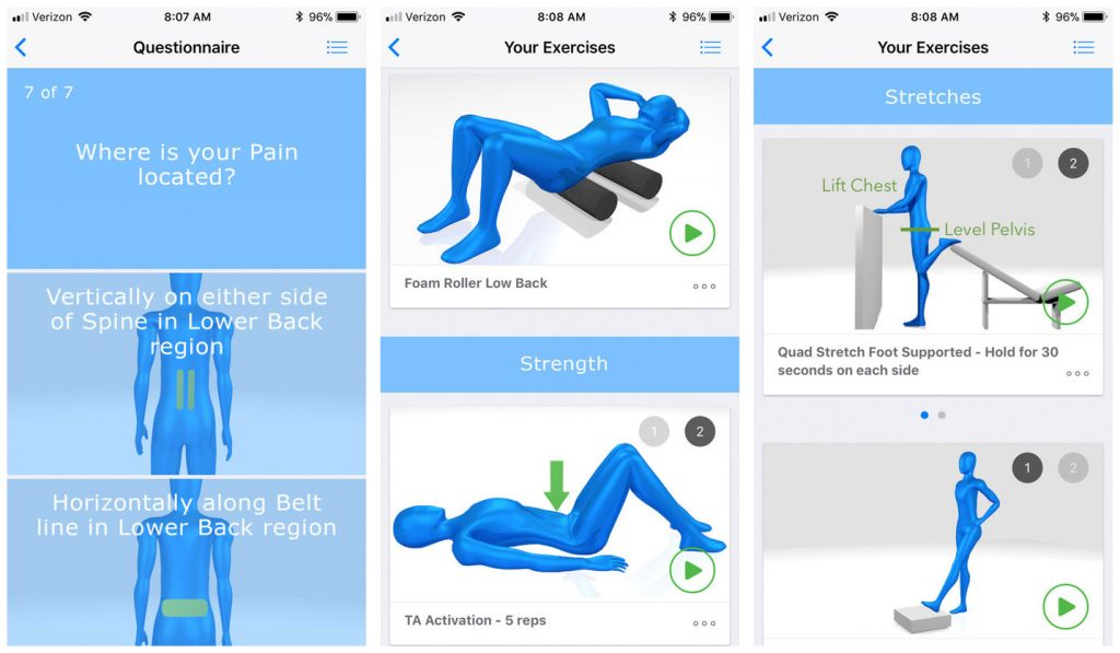 iREHAB back pain app