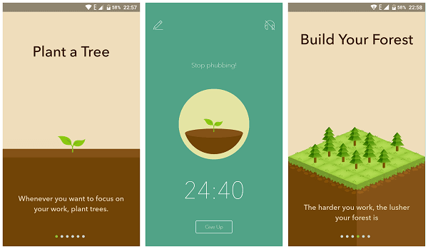 Forest app to abandon smartphone addiction and stay focused