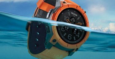 Nixon Mission waterproof smartwatch for swimming and surfing