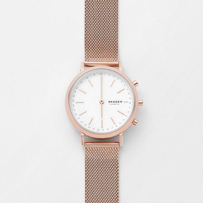 Skagen Mini Hald Rose hybrid smartwatch for women