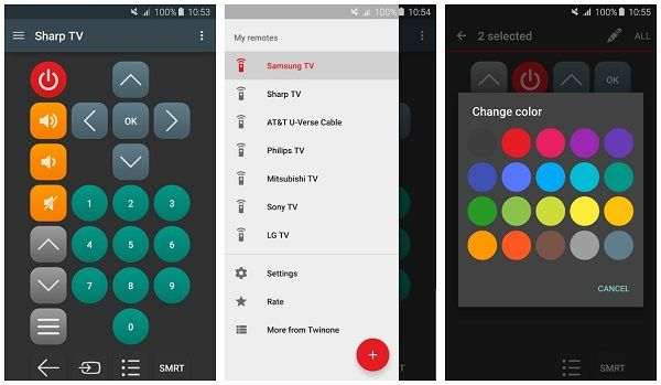 Twinone Universal TV Remote mobile app