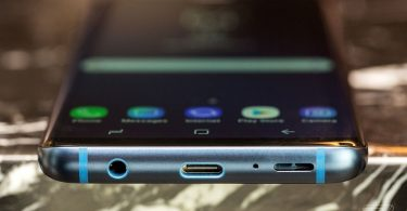 Ports of the Samsung Galaxy S9 Plus, the best phone with a headphone jack